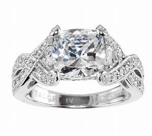 tacori iv diamonique epiphany bloom cushion cut ring qvccom With tacori wedding rings qvc