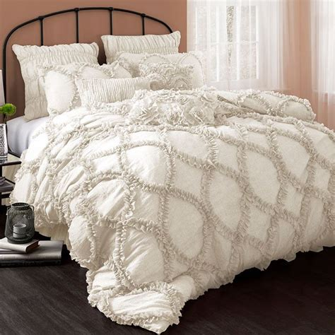 3 piece riviera comforter set in ivory bedding love pinterest