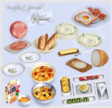 sims 3 cuisine spring4sims edible foods