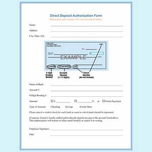 direct deposit authorization form templates download With direct deposit forms for employees template