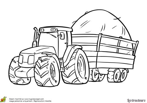 coloriage tracteur  remorque dessins gratuits colorier