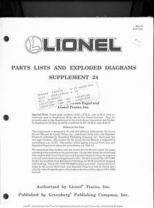 Lionel Parts List And Exploded Diagrams
