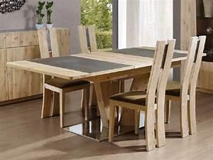 table a manger en bois de chene flower rectangulaire avec With meuble salle À manger avec table a manger avec rallonge pas cher