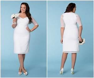 wonderful photos of plus size short lace wedding dresses With short white wedding dresses plus size