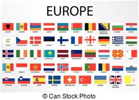 An alphabetical country flags for the continent of north ...