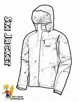 Coloring Winter Jacket Ski Sports Hockey Colouring Cold Yescoloring Bone sketch template