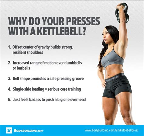 kettlebell press build beastly break down bodybuilding june