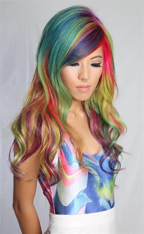 pony hair sand art rainbow hair color