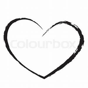 Black Heart Drawing Love Valentine