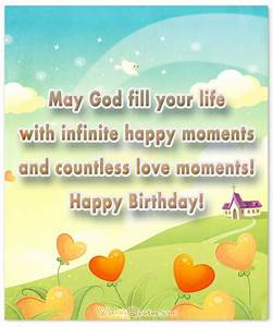 Religious Birthday Wishes and Card Messages