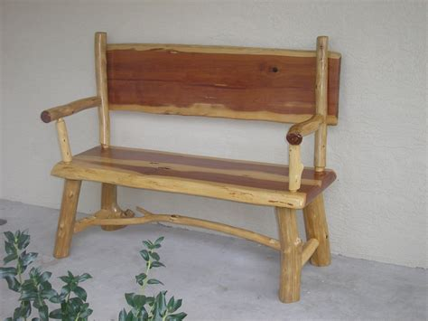rustic furniture rustic wood log bench picture cool
