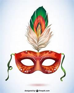 Máscara de carnaval con pluma, formato vectorial Vector ...