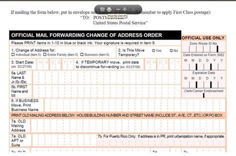 us postal change of address form free usps 3575