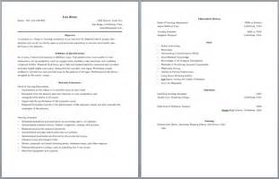 Pages Layout Resume by Two Page Resume Whitneyport Daily