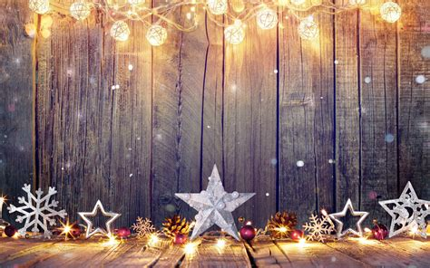 merry christmas stars decorations  wall wallpaper