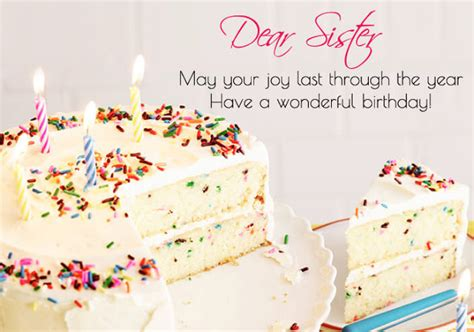 happy birthday sister wishes messages cake images