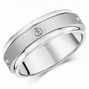 7mm titanium diamond wedding ring band titanium rings at With titanium diamond wedding rings