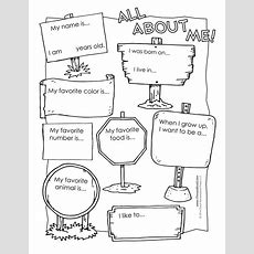 All About Me Worksheet  Tim's Printables
