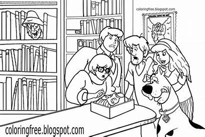 Scooby Doo Coloring Ghost Pages Monster Drawing