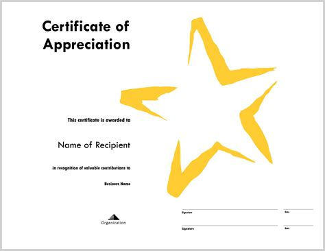 tke award certifricate template exciting star award template 323986 resume ideas