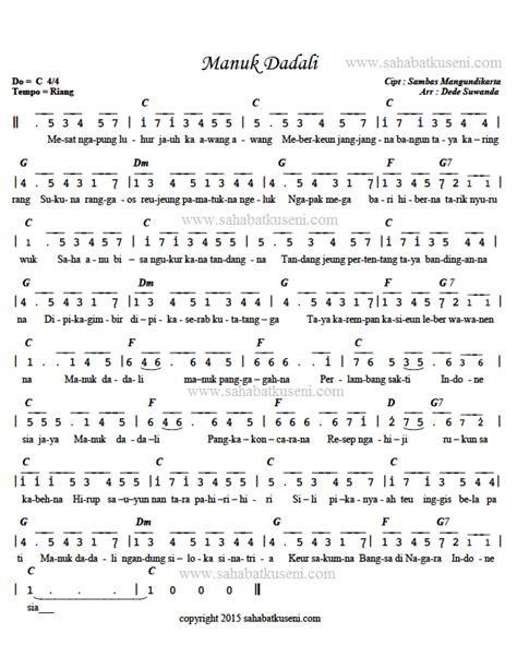 kunci not angka lagu do a anak sholeh