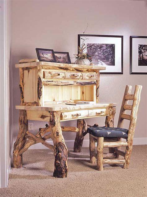 rustic log furniture natural building blog