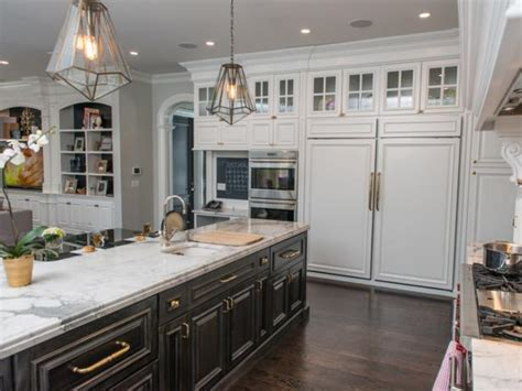 transitional kitchen  built  pantry storage hgtv