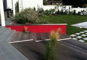 conception d39un jardin contemporain en couleur mon With plan 3d maison en ligne 14 conception dun jardin en pente avec piscine mon jardin