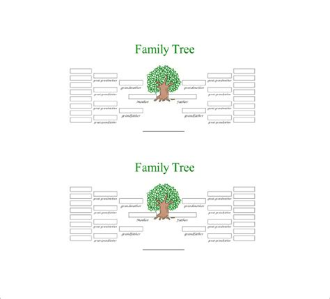 Five Generation Family Tree Template 11 Free Word The Gallery For Gt Grandparents