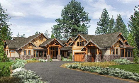 high  mountain house plan  bunkroom mountain house plans craftsman house plans cabin