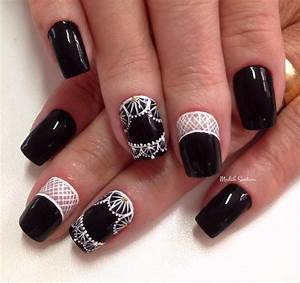 Black nail art ideas fashion hippoo