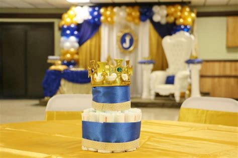 prince baby shower decorations royal baby shower baby shower party ideas photo 1 of 19 catch my party