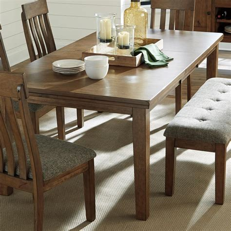 benchcraft flaybern   rectangular dining room butterfly leaf table pilgrim furniture city dining tables