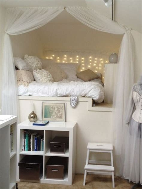 bed nook ideas  pinterest bed  wall bed