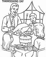 Coloring Thanksgiving Dinner Table Sheets Eating Drawing Printable Activity Drawings Characters Feast Sketch Meal Deti Bluebonkers Popular Uložené Getdrawings sketch template