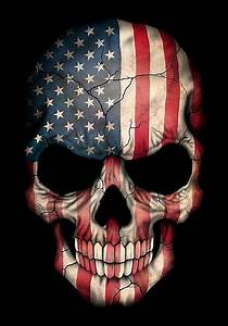 Duvet Size Chart Canada Quot American Flag Skull Quot Posters By Jeff Bartels Redbubble