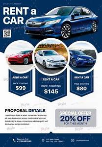Rent A Car Psd Flyer Template  25690