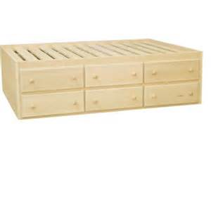 furniture in the raw captain s bed with storage options