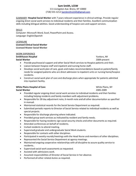 work resume samples entry level social service resume
