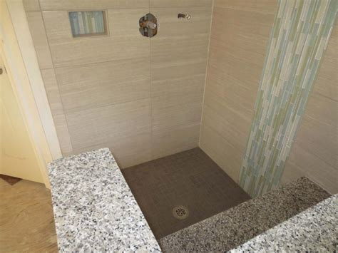 large format tile bathroom time lapse installed with progress profiles proleveling system youtube