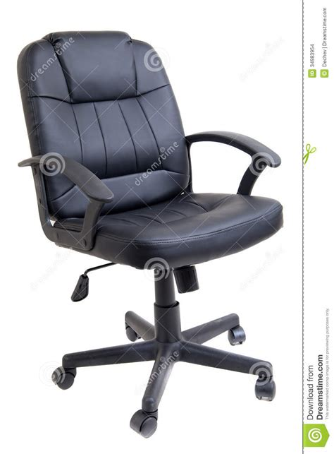black leather office chair royalty free stock photography