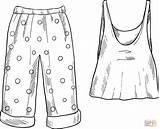 Coloring Pajamas sketch template