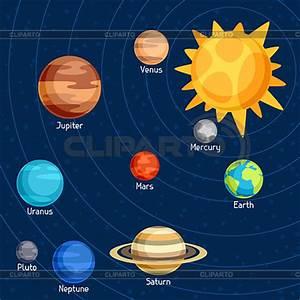 Solar system | Stock Photos and Vektor EPS Clipart | CLIPARTO