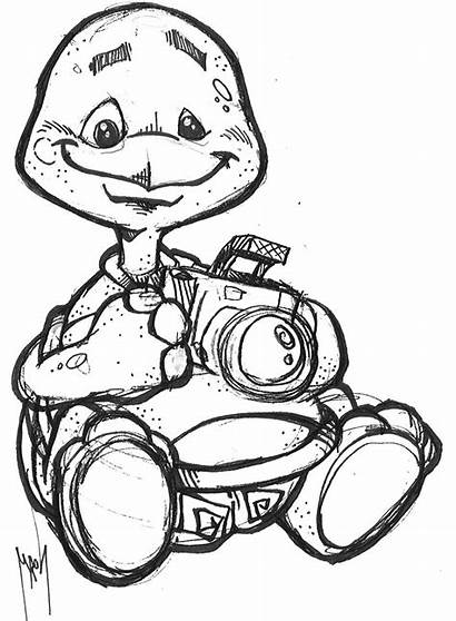 Coloring Pages Camera Turtle Stuff Mutt Hold