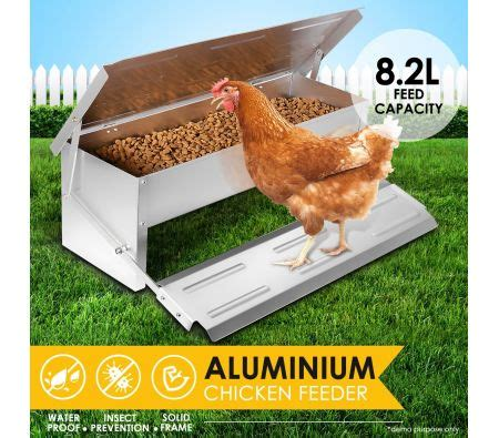 Chicken Feeders Nz by 8 2l Automatic Chicken Feeder Poultry Chook Treadle