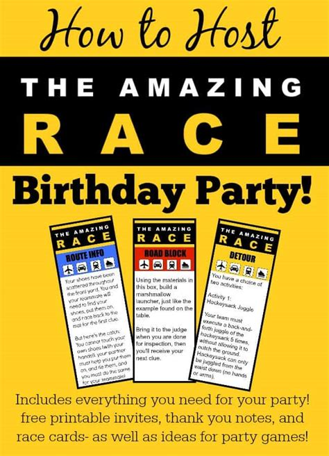 great  year  party idea  amazing race birthday