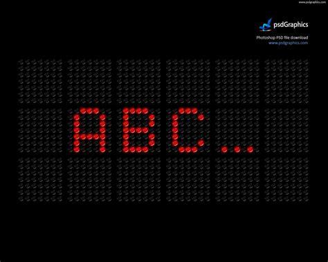 led screen font psd psdgraphics