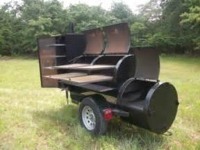 Homemade BBQ Smoker Trailers