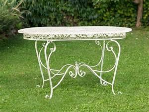 Table De Jardin En Fer : table de jardin 135cm table en fer meubles de jardin en ~ Dailycaller-alerts.com Idées de Décoration