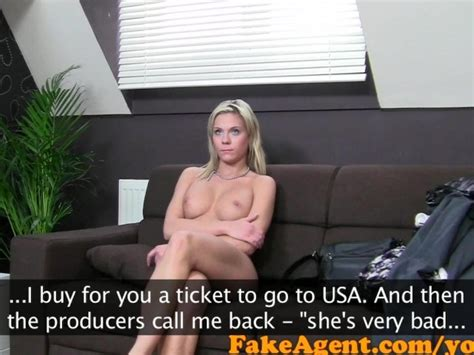 Fakeagent Hot Blonde Bar Girl Tricked Into Sex In Casting